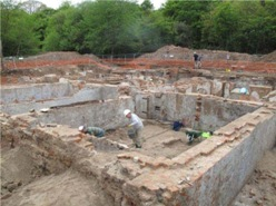 Archaeological excavation at Worsley New Hall 2012