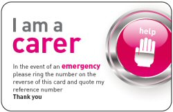 I am a carer card