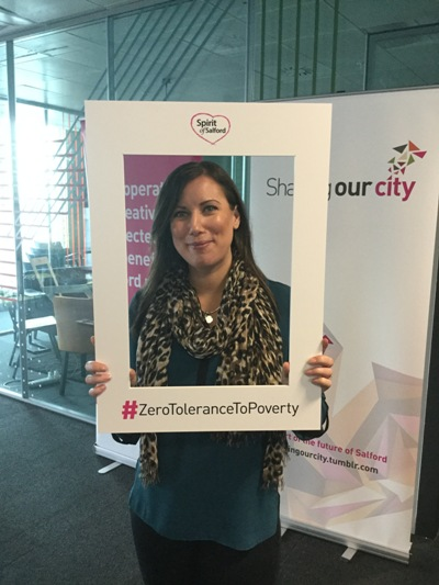 A person supporting a zero tolerance to poverty