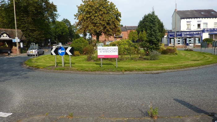 Example roundabout sign