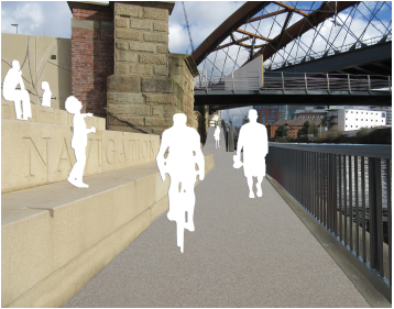 Artist impression of Ordsall Chord Riverside Connection